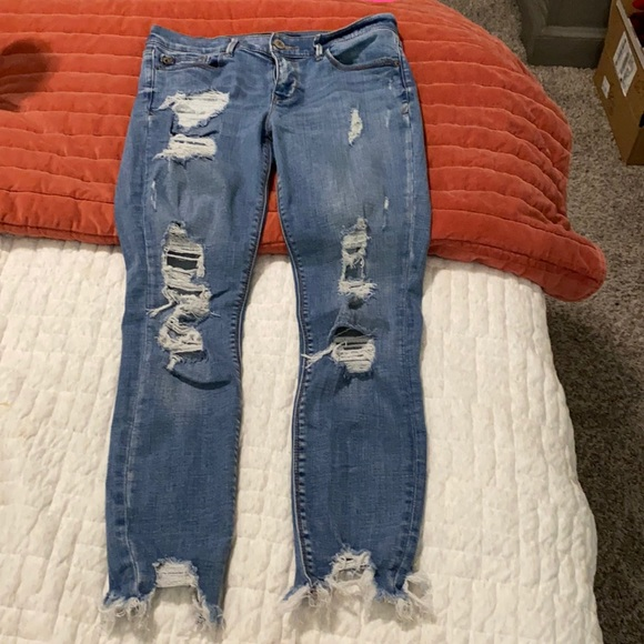 Express distressed jeans, size 8